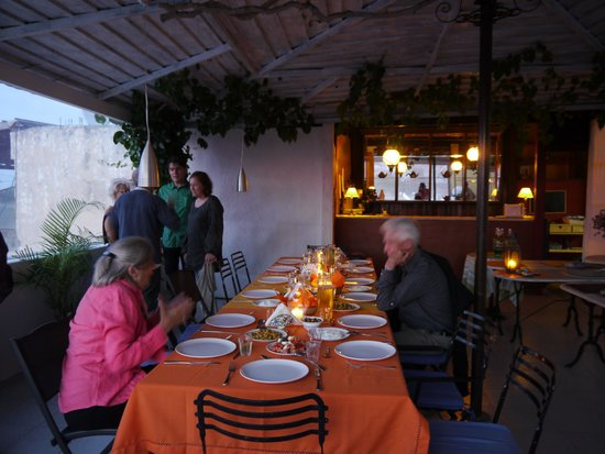 Hotel Andreas : catered dinner party overlooking the Old Town