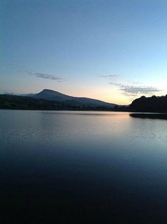 Glanllyn Lakeside: beautiful sunset