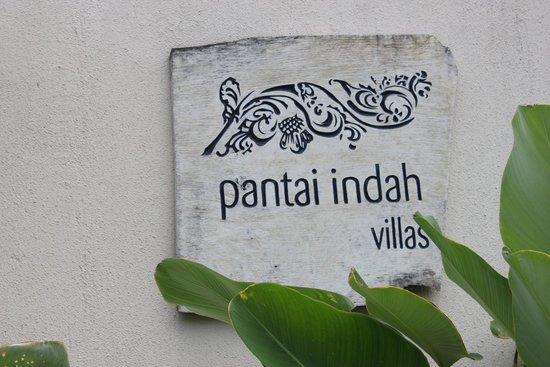 Pantai Indah Villas Bali: Entrance Plaque
