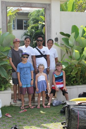 Pantai Indah Villas Bali: Our Kids and beautiful staff