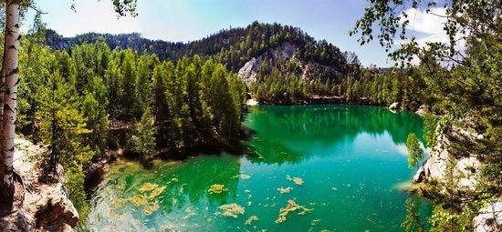 Adrspach-Teplice Rocks : Jezioro w Adrspach