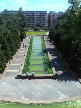 Meridian Hill Park waterfall is shaped like an Ankh.  The Ankh is an ancient African symbol.