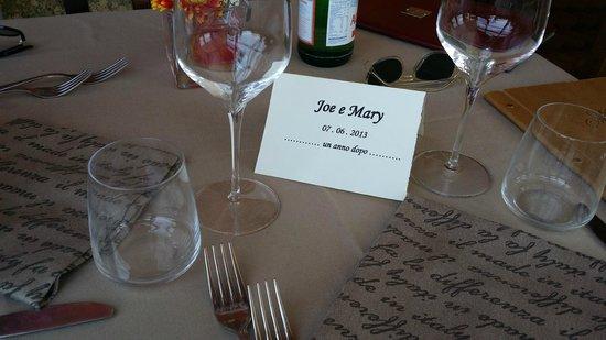 Hotel Ristorante Siro: il nostro tavolo