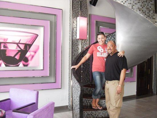 Hotel Riu Palace Mexico: The balcony of the piano bar!