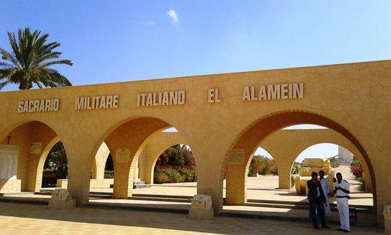 El Alamein War Cemetery: ingresso