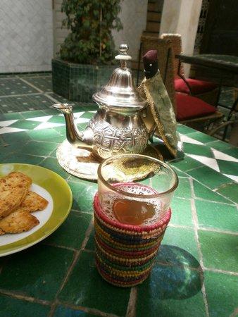 Riad Vert Marrakech: Thé à la menthe at the Riad