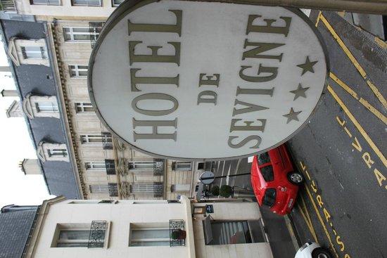 Hotel de Sevigne : Zimmeraussicht