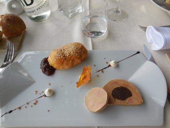 Chez le Per'Gras : Entrée duo foie gras