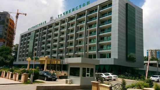 Hotel Tajikistan: The Hotel from outside