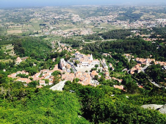 Castle of the Moors: view of the city