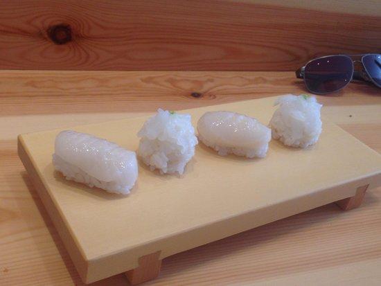 Futami: Sushi di viera e calamaro