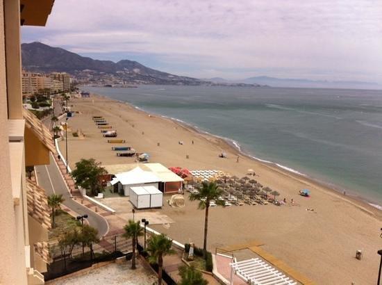 Hotel IPV Palace & Spa: view from balcony towards centre of fuengirola