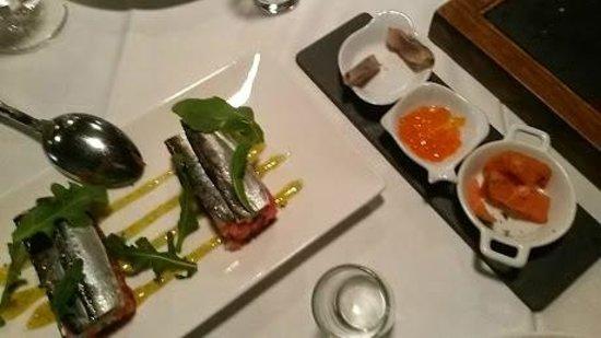 Restaurante Fishka: Blinis y areqnues