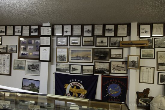 St. Marys Submarine Museum: Plaques, photos, documents line the walls