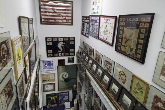St. Marys Submarine Museum: Combat flags showing war patrol success