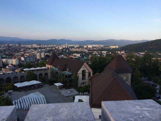 Ljubljana Castle: View from top of castle