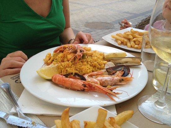 Restaurante Ambrosia: leckere Paellea mit Meeresfrüchten & Gambas