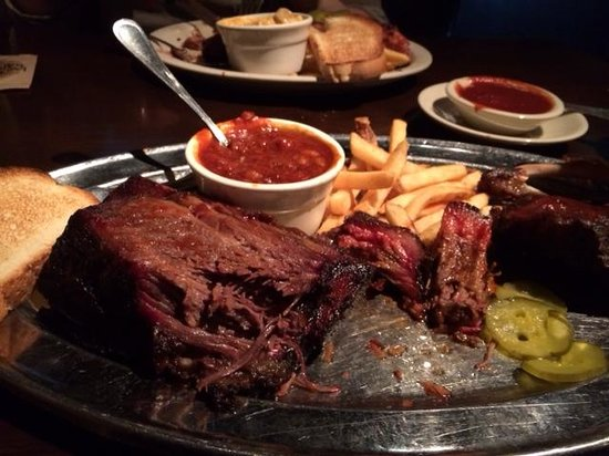 Jack Stack Barbecue: 'Jack's Best' combo plate. Crown prime beef rib was the best.