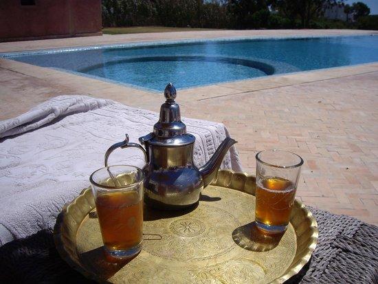 Villa Gonatouki: Mint tea by the pool