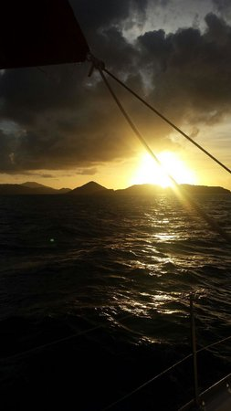 Sail Safaris: sunset view from boat
