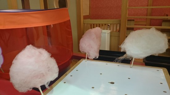 Shiretoko Daiichi Hotel : 持ち帰りOKの夕食バイキングの綿菓子