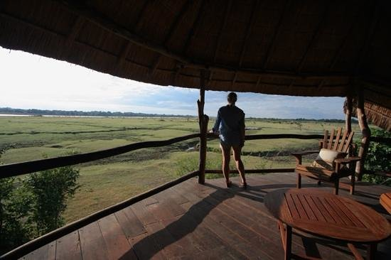 Kafunta River Lodge: Room loft/Balcony view