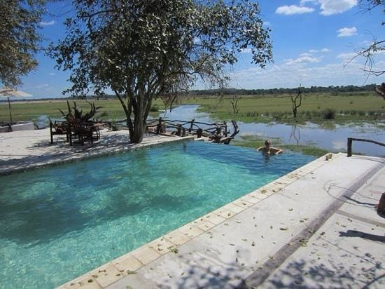 Kafunta River Lodge: Swimming pool