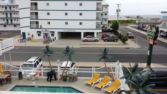 American Safari Motel: Pool and ocean view from 308.