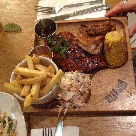 Giraffe - Trafford Centre: BBQ Ribs & Chicken Combo