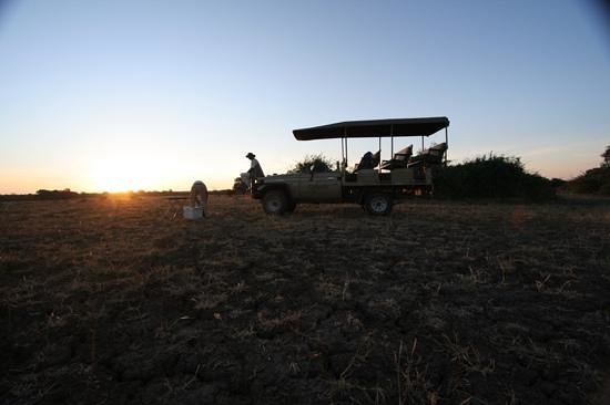 Kafunta River Lodge: Sundowners