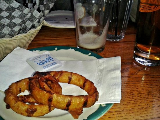 Barley Pub & Eatery : A sad moment - Finished beer & onion rings !!