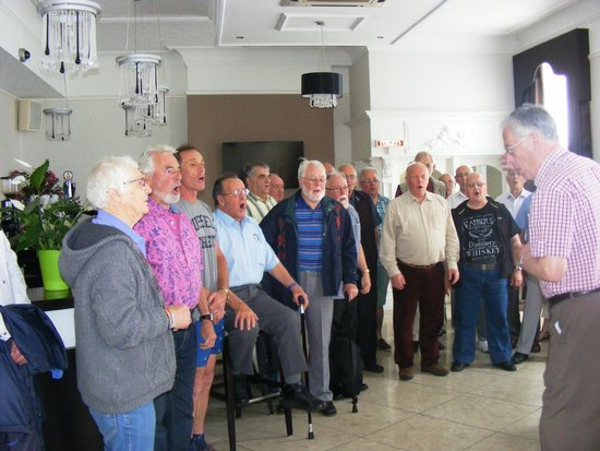 New Continental Hotel: Solent male voice choir, impromptu songs for staff