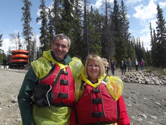 Jasper Raft Tours: My wife and I