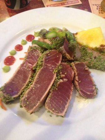 The Tin Fish: Wasabi-Sesame crusted tuna!
