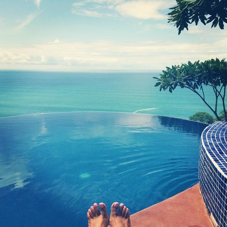 Anamaya Resort & Retreat Center: view overlooking the infinity pool