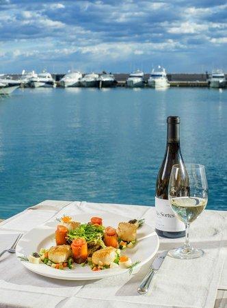 Saltea Restaurante: Warm king scallop salar with salmon