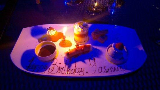 15th & Vine Kitchen and Bar: My special birthday dessert potpurri - it was delicious!