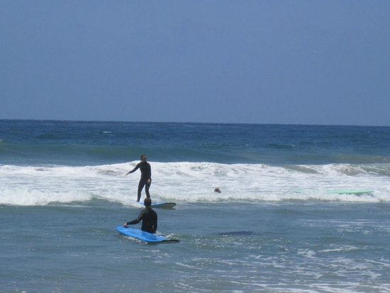 Leucadia Surf School: her first wave!