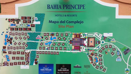 Grand Bahia Principe Punta Cana Map Resort map   Picture of Grand Bahia Principe Punta Cana, Punta