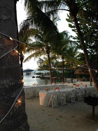 Atlantic Bay Resort: View from 19 with reception decorations