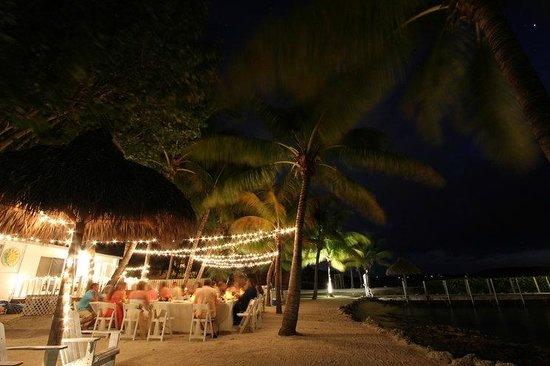 Atlantic Bay Resort: Dining setup with lights by Juan!