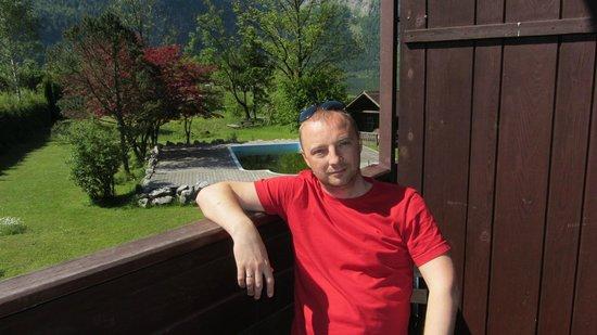 Obertrauner Hof: Виды из окна отеля