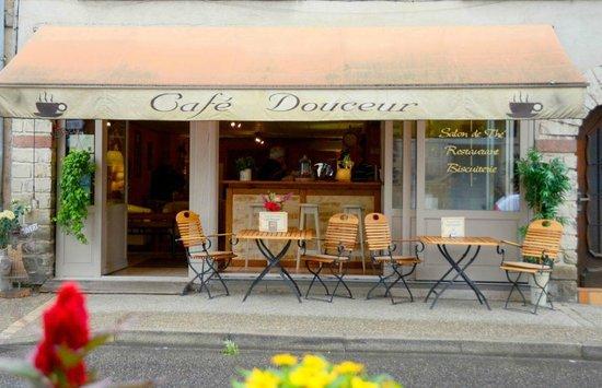 Café douceur : devanture du magasin