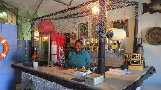 Hentiesbaai, Namibia: The kind staff.