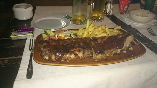 Texas House Restaurante: Portion of ribs