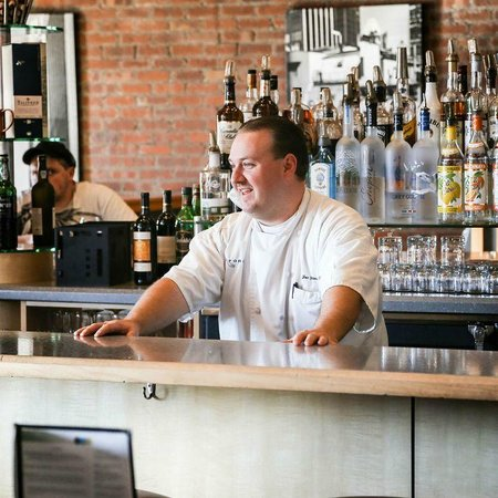 Bent Fork Grill: Chef Zac has amazing talent . ask him to come by your table..