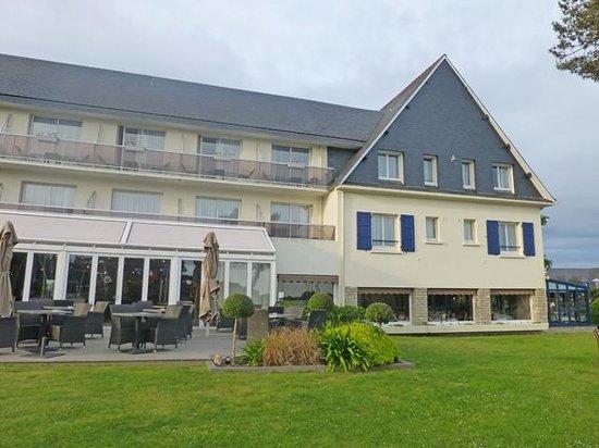 Best Western Le Roof : Außenansicht Hotel Meerseite