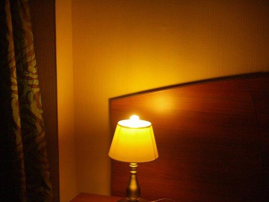 Posadsky Hotel: Лампочка явно не по размеру...