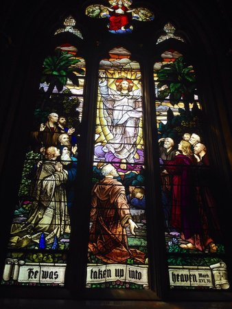 Cathedral of St. Helena: Just one of the beautiful stained glass windows