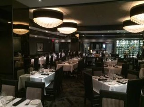 Morton's The Steakhouse - Great Neck: The remodeled dining room with a view of our private dining room